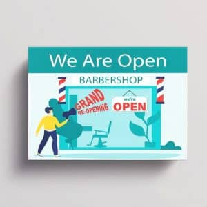 Announcement Card - we are open