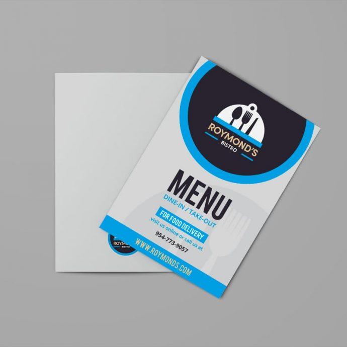 Bi-Fold Brochure Menu