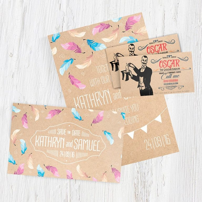 Brown Kraft Card and business card