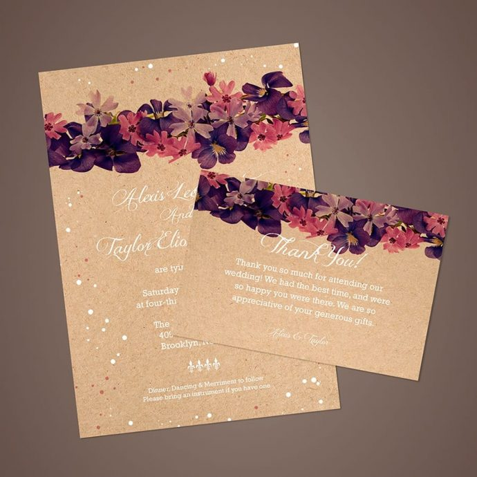 Brown Kraft Card Flowers