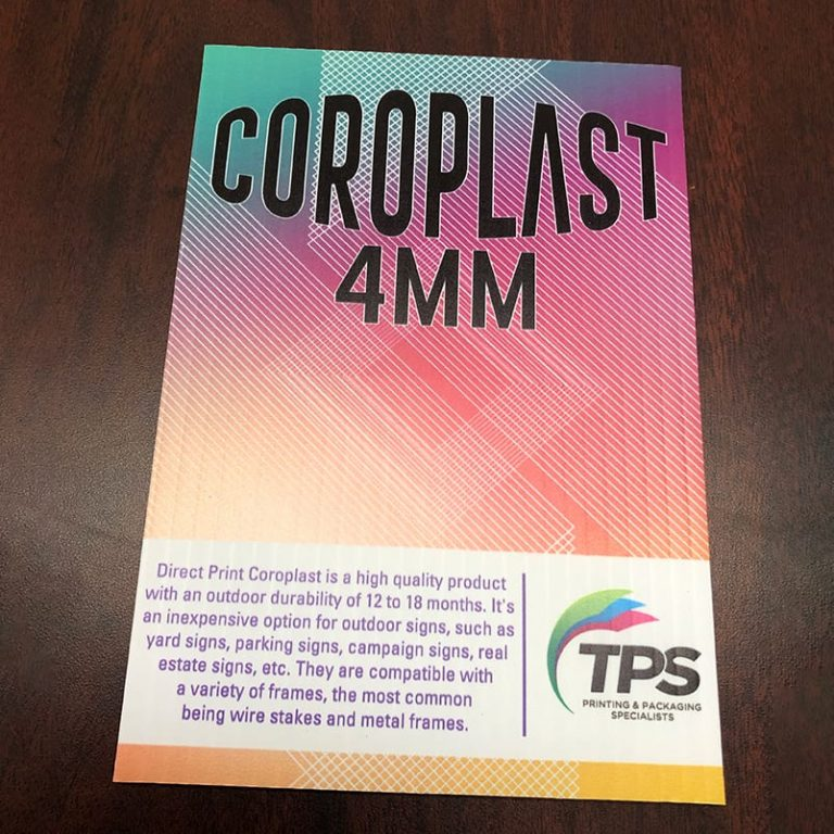 Coroplast Yard Sign example flat