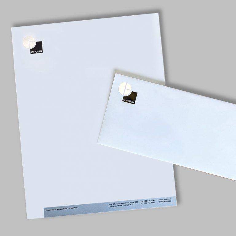 Envelope & Letterhead Example with Foil