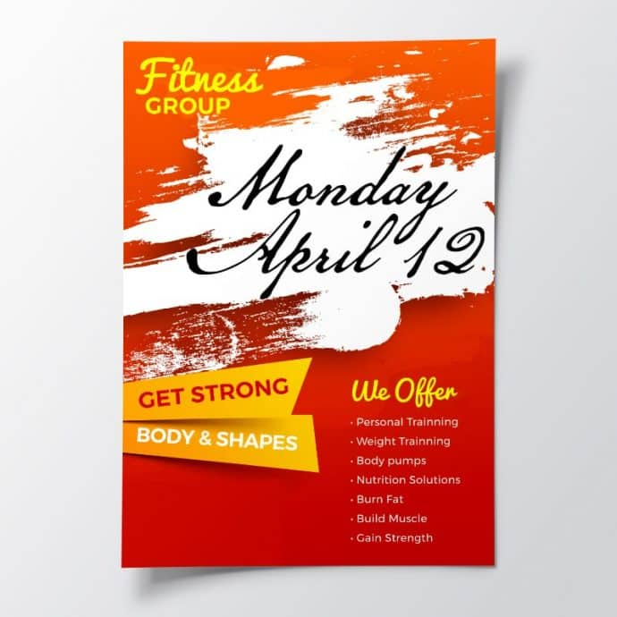 Fitness flyer example