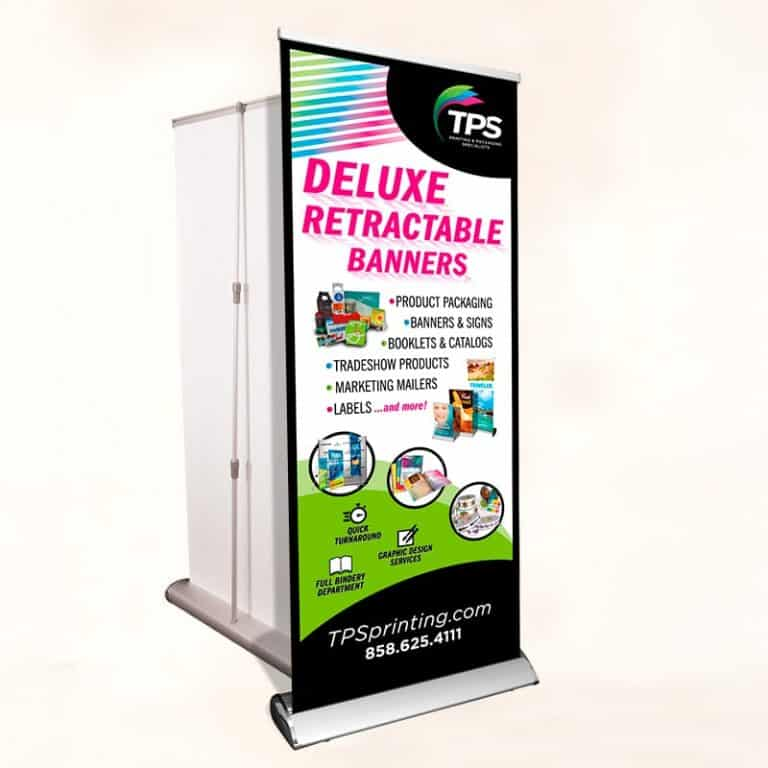 Rectractable-Standing Banner-Deluxe 33x81 and 36x92