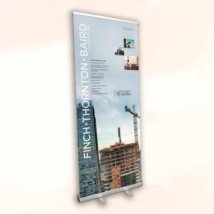 Rectractable-Standing Banner-Finch Sample
