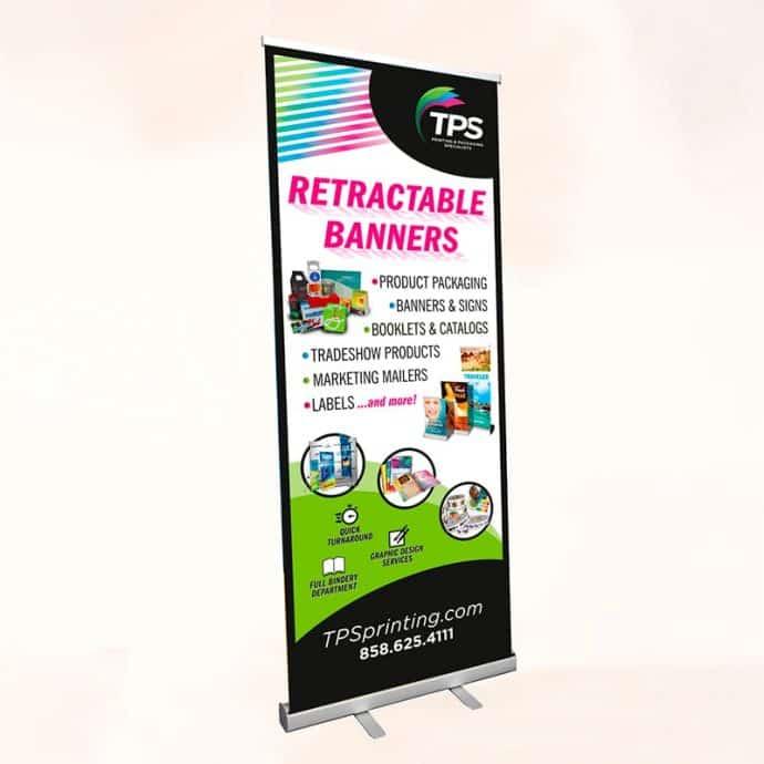 Rectractable-Standing Banner-Standard 33x81