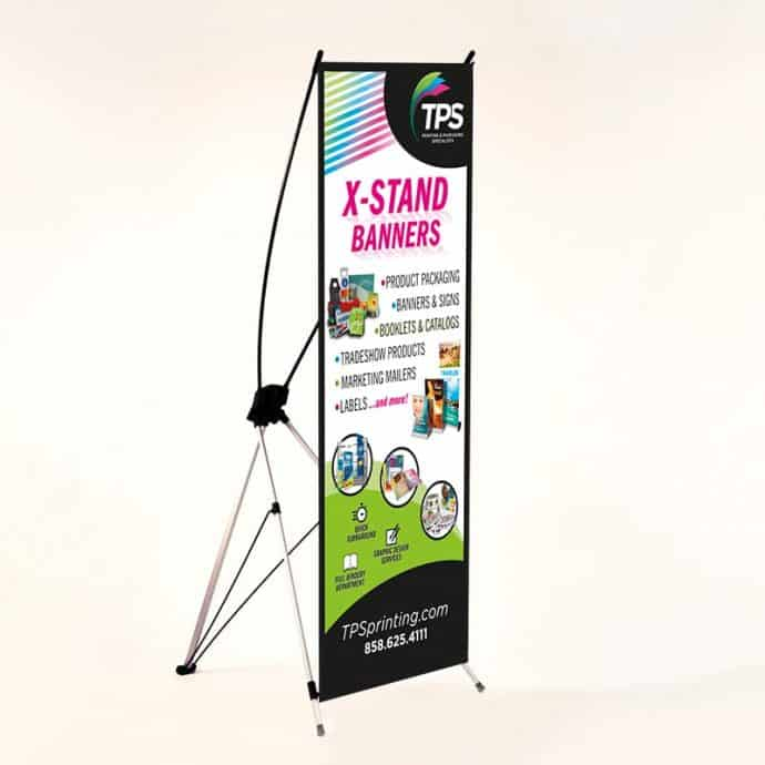 Rectractable-Standing Banner-X-Stand-24x63 and 32x71