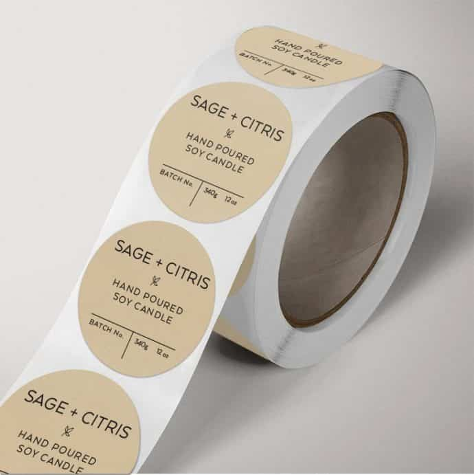 Roll Label single roll example