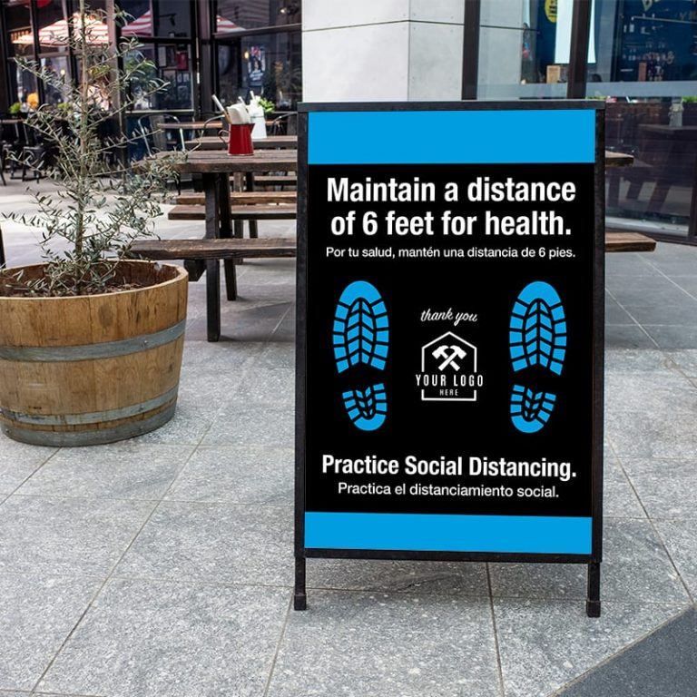 Social Distancing Outdoor Sign
