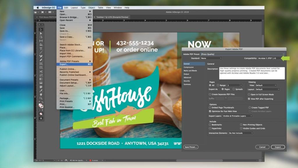 InDesign PDF Export