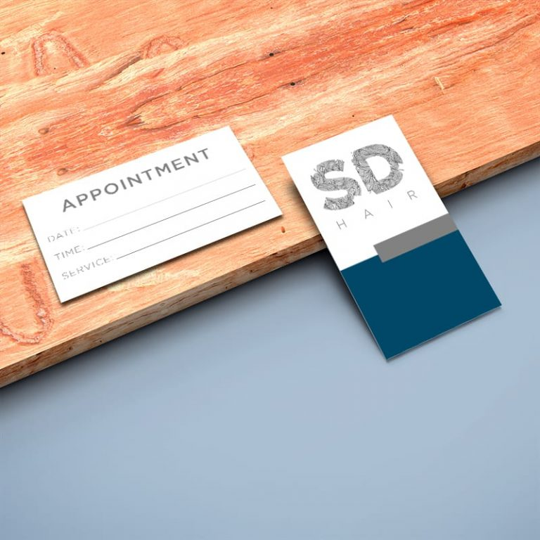 Business Card Sample on Wood