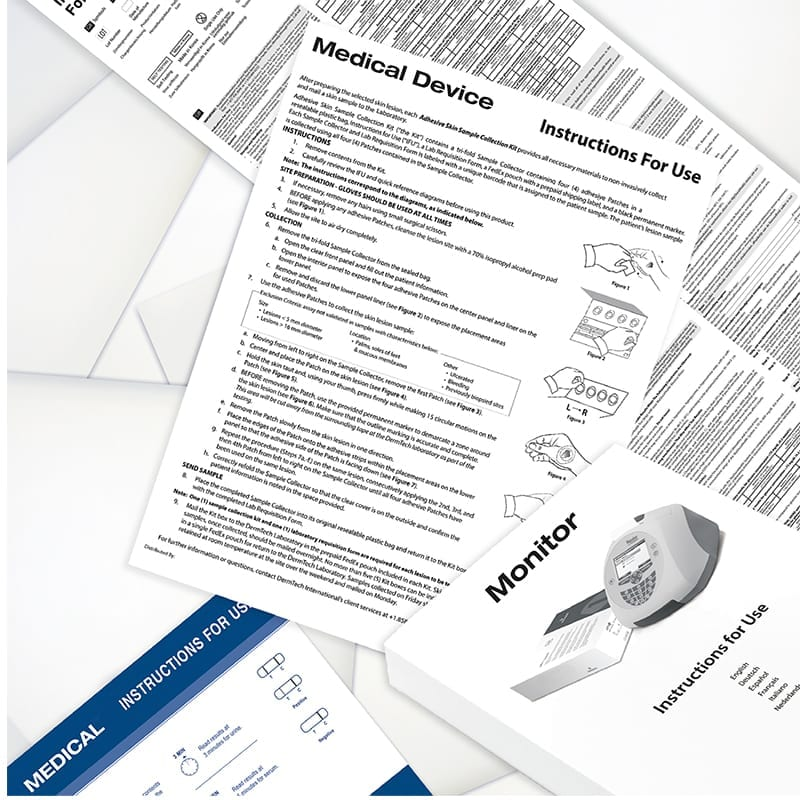 Instructions for Use (IFU) Booklets and Insert Examples