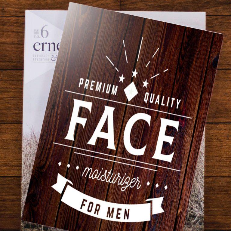 Men's Foldover Card example