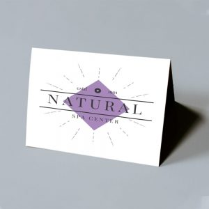 Natural Spa Foldover Card