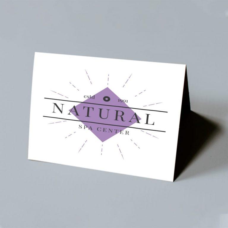 Natural Spa Foldover Card