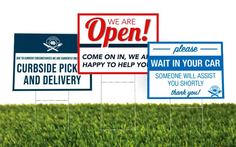 3 Samples of Various Yard Signage example