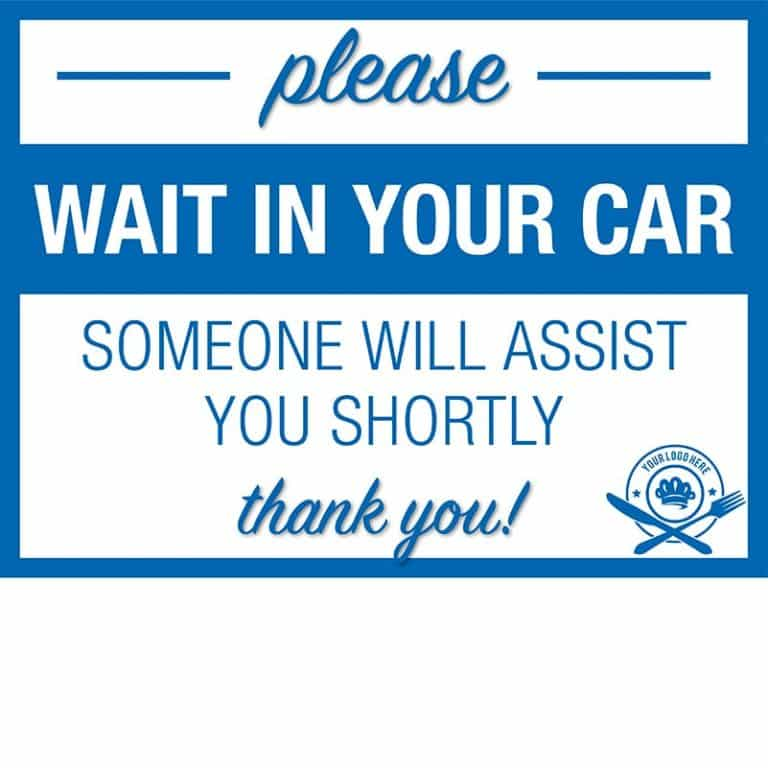Covid19-Yard Signs_wait in your car-assistance-blue