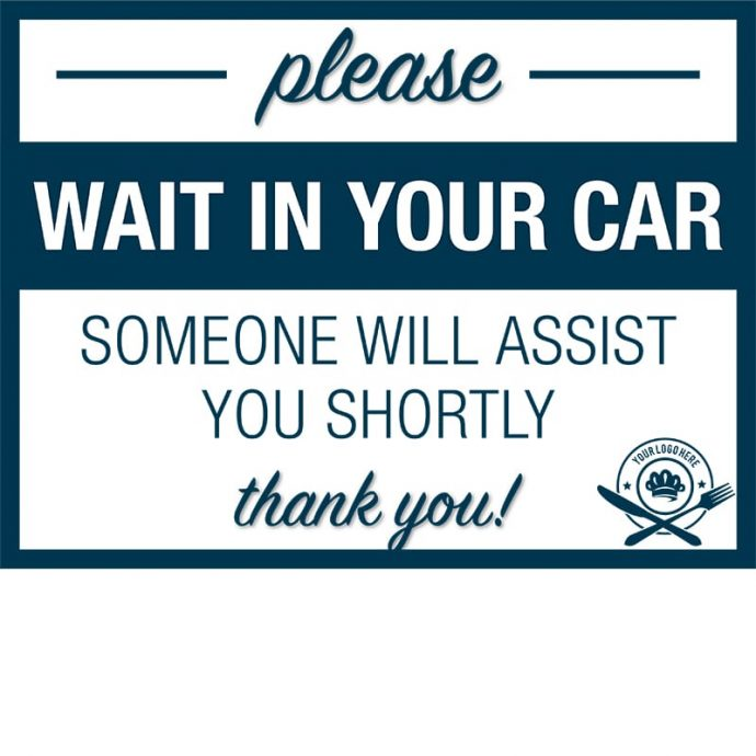 Covid19-Yard Signs_wait in your car-assistance-dark blue