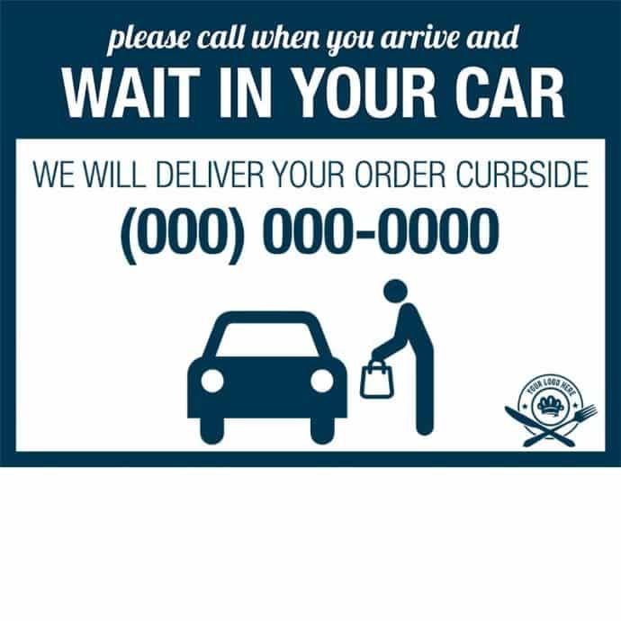 Covid19-Yard Signs_wait in your car-dark blue