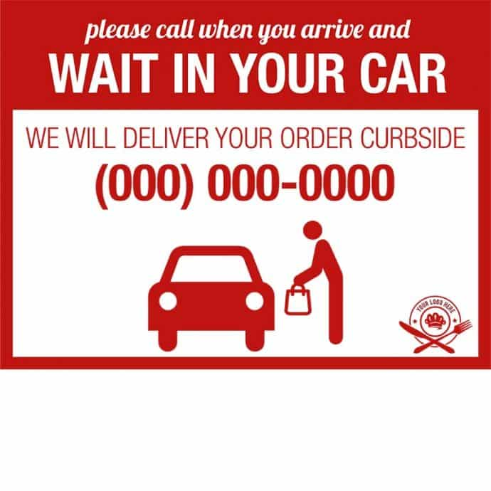 Covid19-Yard Signs_wait in your car-red