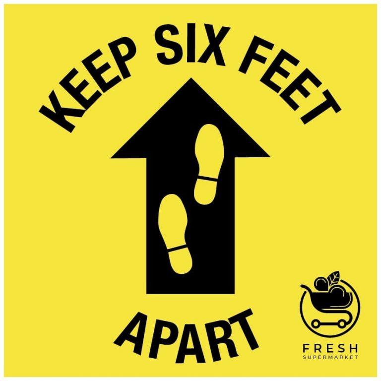 Floor Decals-Keep Six Feet