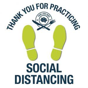 Floor Decals-Social Distancing Example