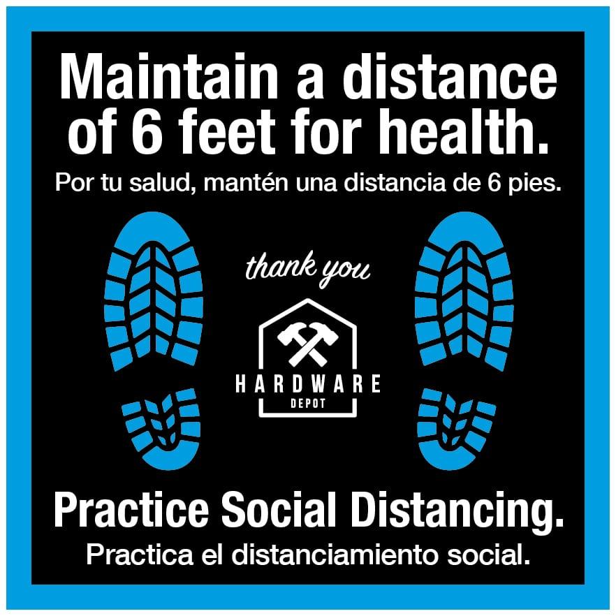 Floor Decals-Worker Shoes Example Social Distancing