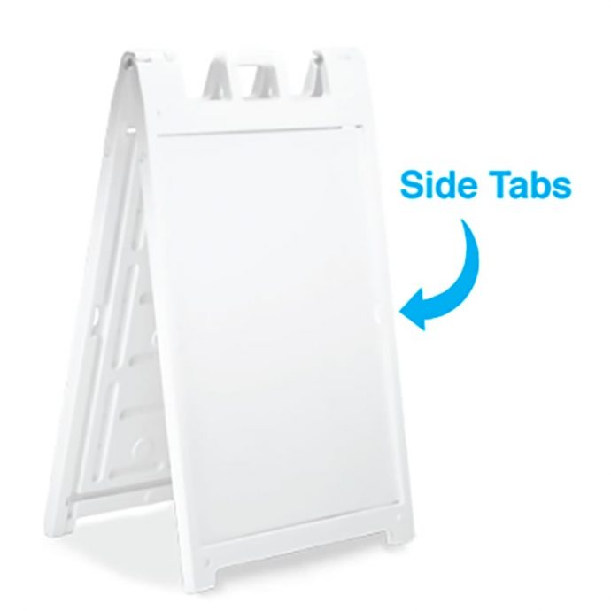 White Sample Signicade A-Frame-side tabs