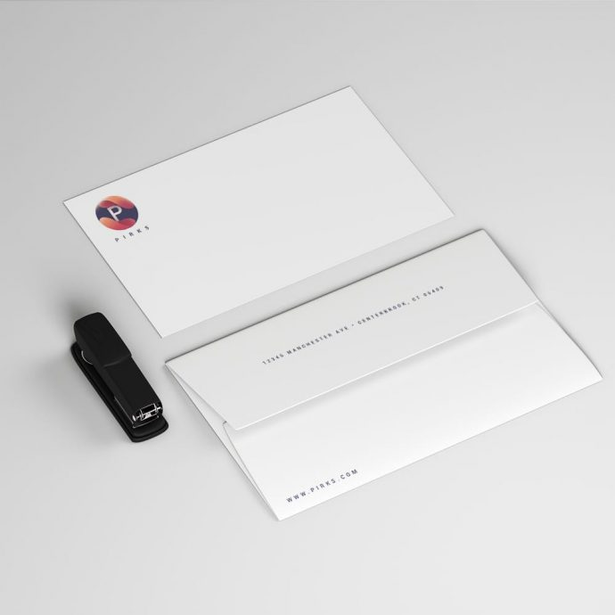 Announcement Card and Envelope Example