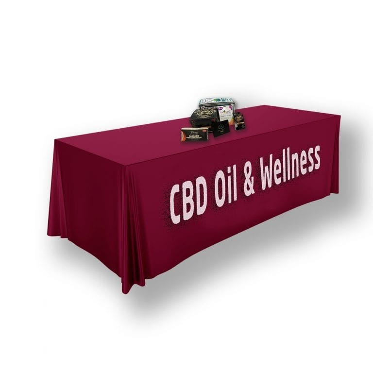 CBD Table Throw example with boxes