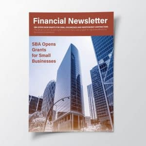 Financial Newsletter Example