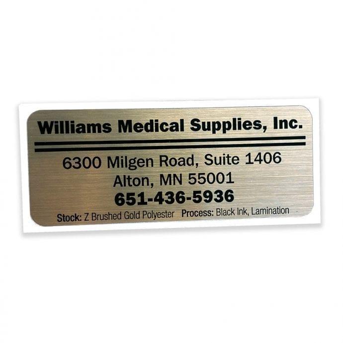 Foil Address Label
