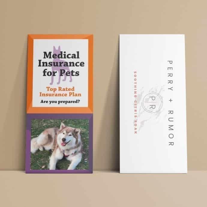 Rack Card Example Pet Insurance