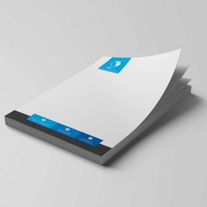 Letterhead & Pen Example