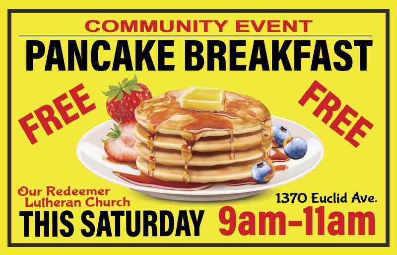 Church Pancak Breakfast Banner