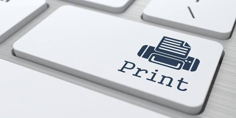 Computer Keyword Key With Printing on It